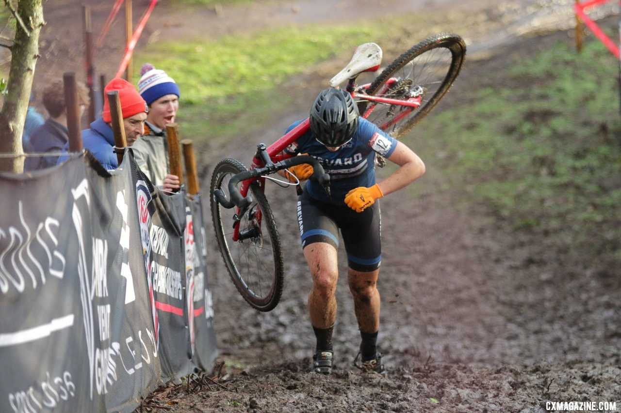 Hannah Arensman is one of the riders expected to challenge Clouse on Sunday. Collegiate Varsity Women. 2019 Cyclocross National Championships, Lakewood, WA. © D. Mable / Cyclocross Magazine