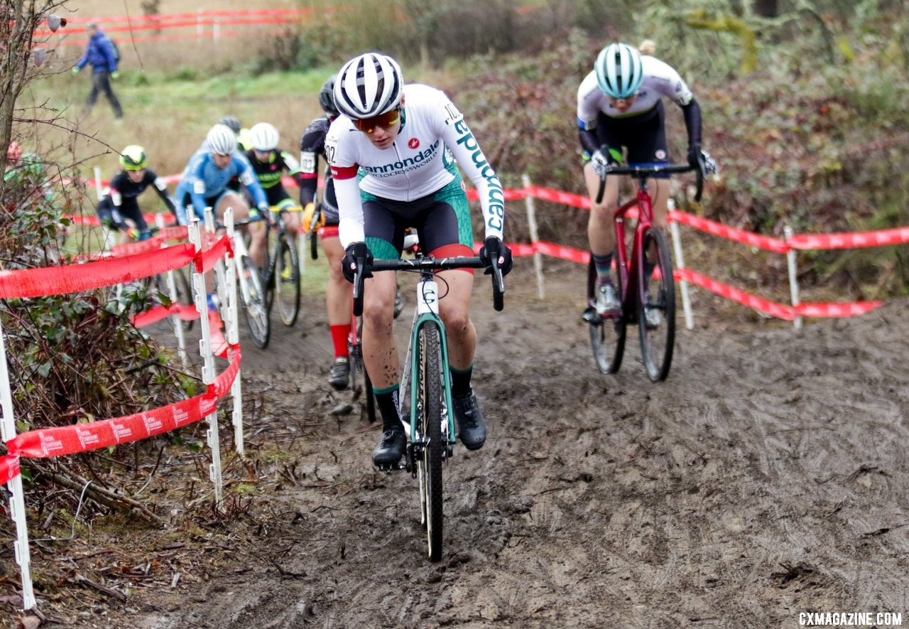 It was Katie Close once the climbing began. U23 Women. 2019 Cyclocross National Championships, Lakewood, WA. © D. Mable / Cyclocross Magazine