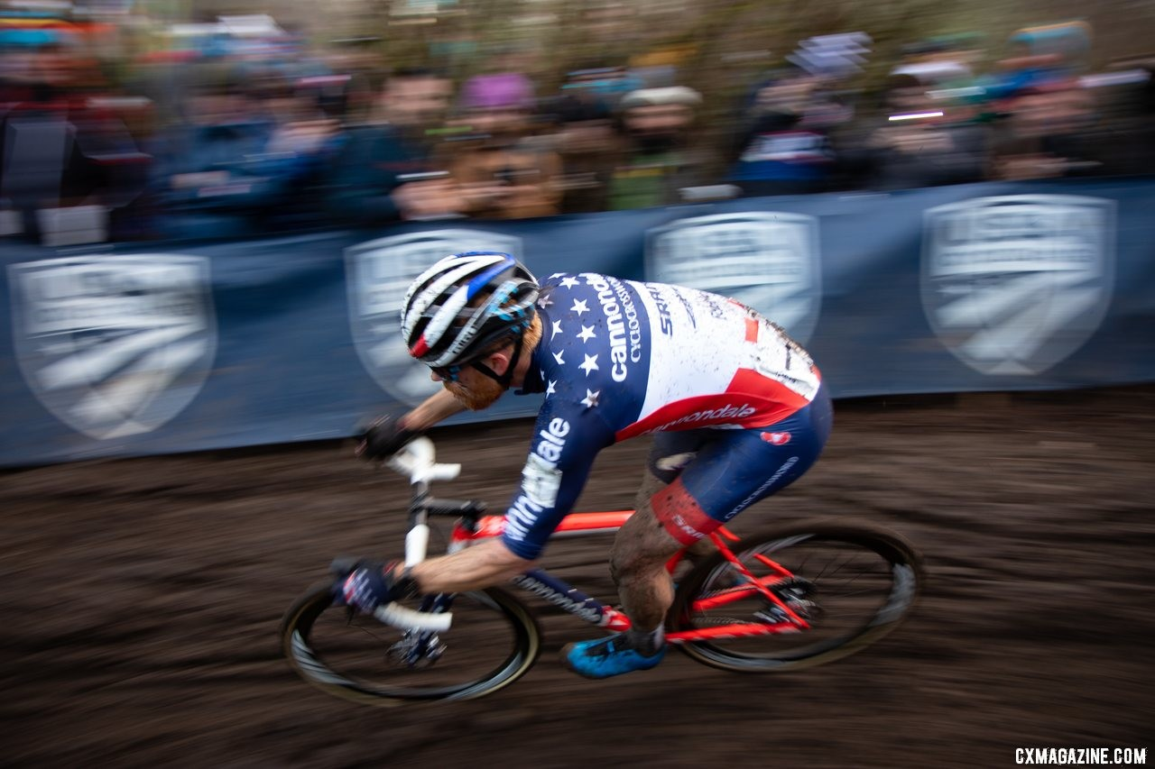 Will we see Hyde in this jersey again? The three-year reign has ended. Elite Men. 2019 Cyclocross National Championships, Lakewood, WA. © A. Yee / Cyclocross Magazine