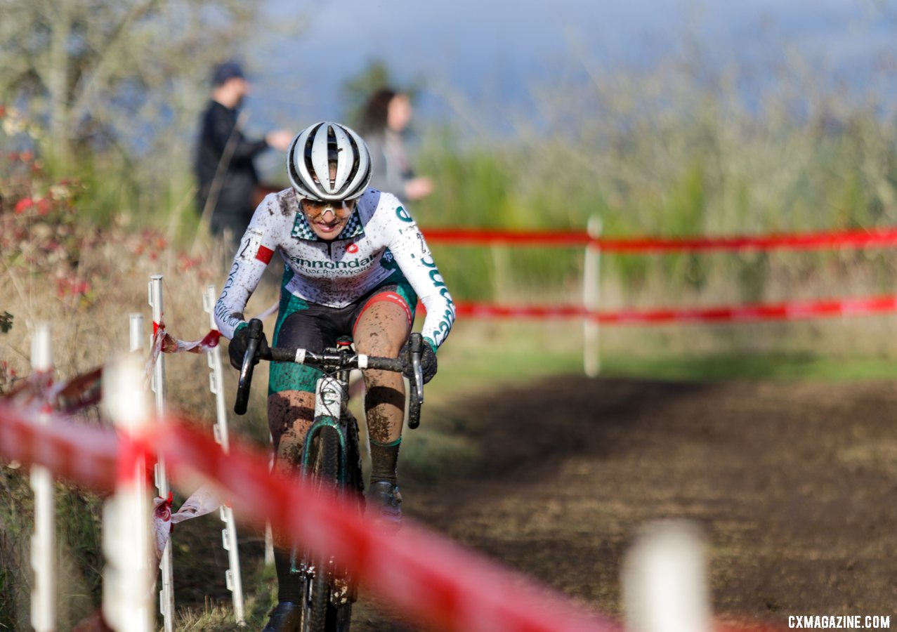 Kaitie Keough got off to a slow start and finished fifth. Elite Women. 2019 Cyclocross National Championships, Lakewood, WA. © D. Mable / Cyclocross Magazine
