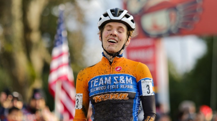 Clara Honsinger is your new U.S. Elite Women's National Champion. Elite Women. 2019 Cyclocross National Championships, Lakewood, WA. © D. Mable / Cyclocross Magazine