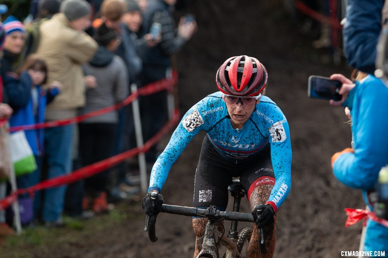 Courtenay McFadden played her part as hometown hero by starting strong on Sunday. Elite Women. 2019 Cyclocross National Championships, Lakewood, WA. © A. Yee / Cyclocross Magazine