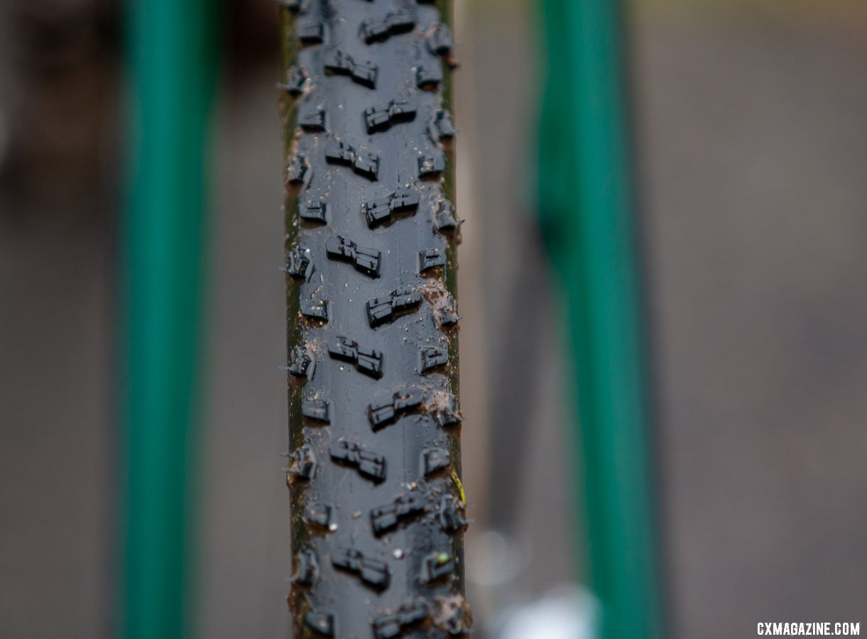 Clouse used the Vittoria Terreno Wet in Lakewood. Katie Clouse's U23 Women's winning Cannondale Super-X. 2019 Cyclocross National Championships, Lakewood, WA. © A. Yee / Cyclocross Magazine