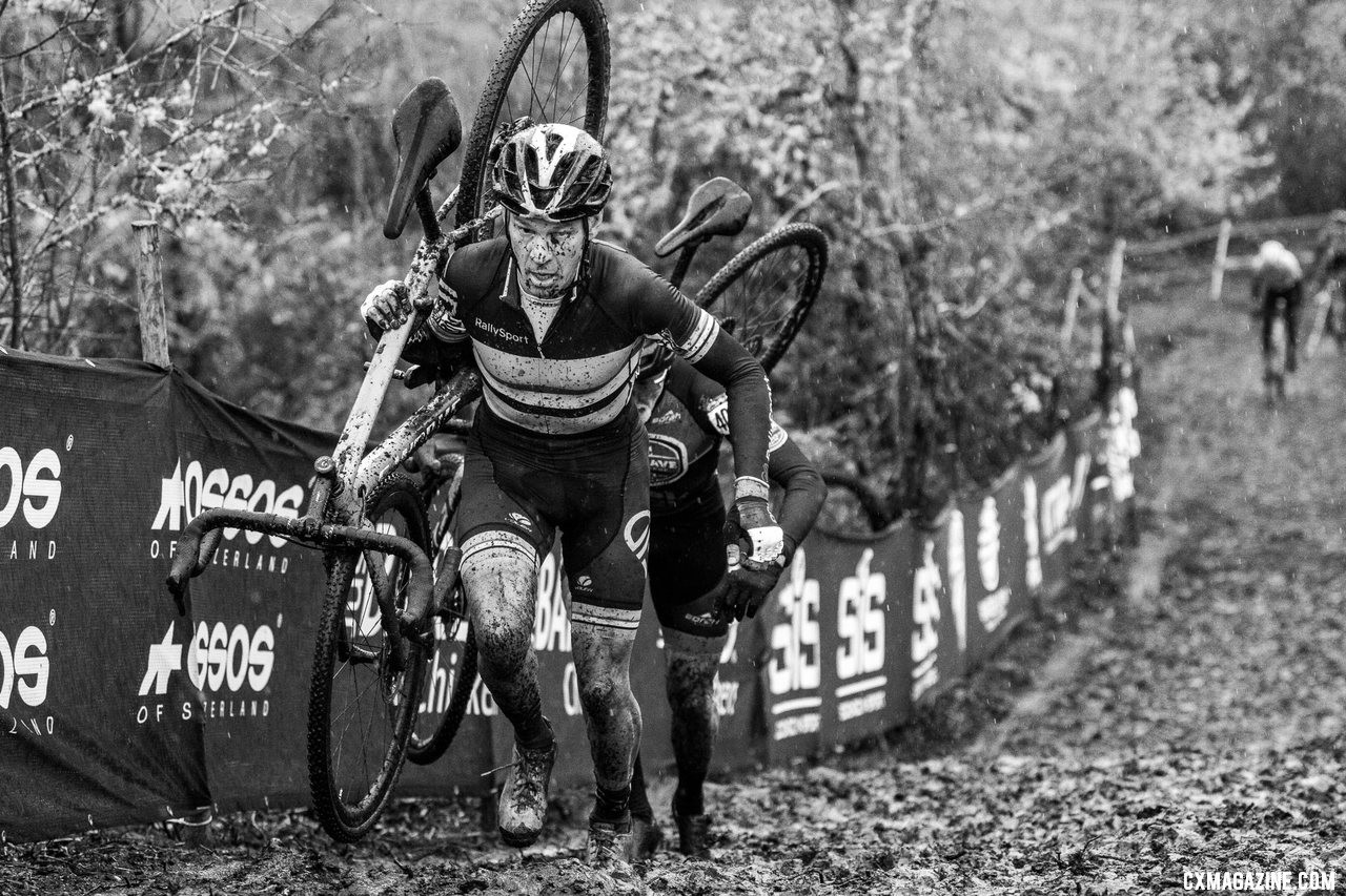 Todd Cassan raced to the Masters Men 55-59 National Championship. 2019 Cyclocross National Championships, Lakewood, WA. © A. Yee / Cyclocross Magazine