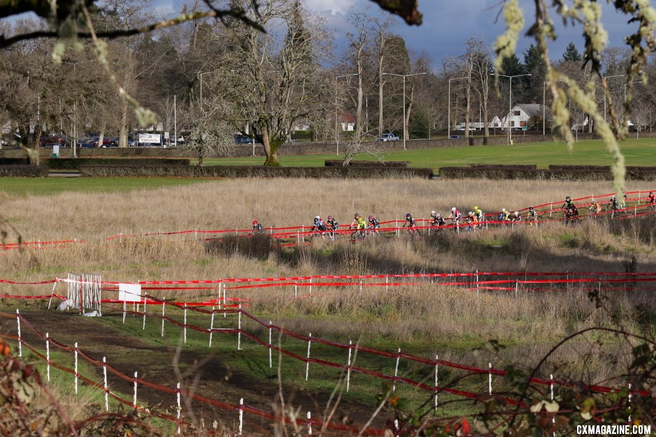 The battle for a national title begins! Masters Women 35-39. 2019 Cyclocross National Championships, Lakewood, WA. © D. Mable / Cyclocross Magazine