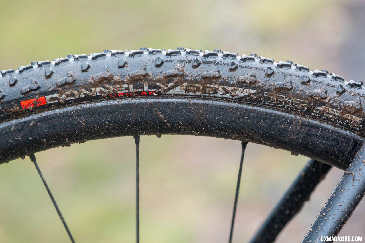 Munro ran Donnelly PDX tubulars on both bikes with 17 PSI front, 18 PSI rear. 2019 Cyclocross National Championships, Lakewood, WA. © A. Yee / Cyclocross Magazine