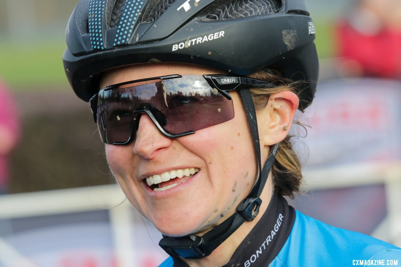 Tricia Fleischer got the chance to race in front of family and friends on Friday. Masters Women 40-44. 2019 Cyclocross National Championships, Lakewood, WA. © D. Mable / Cyclocross Magazine
