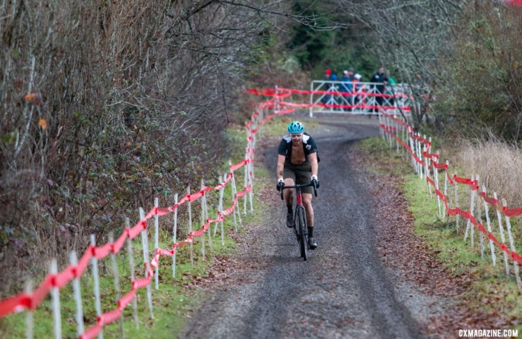Stephan Davoust rode to a fourth-place finish. Singlespeed Men. 2019 Cyclocross National Championships, Lakewood, WA. © A. Yee / Cyclocross Magazine