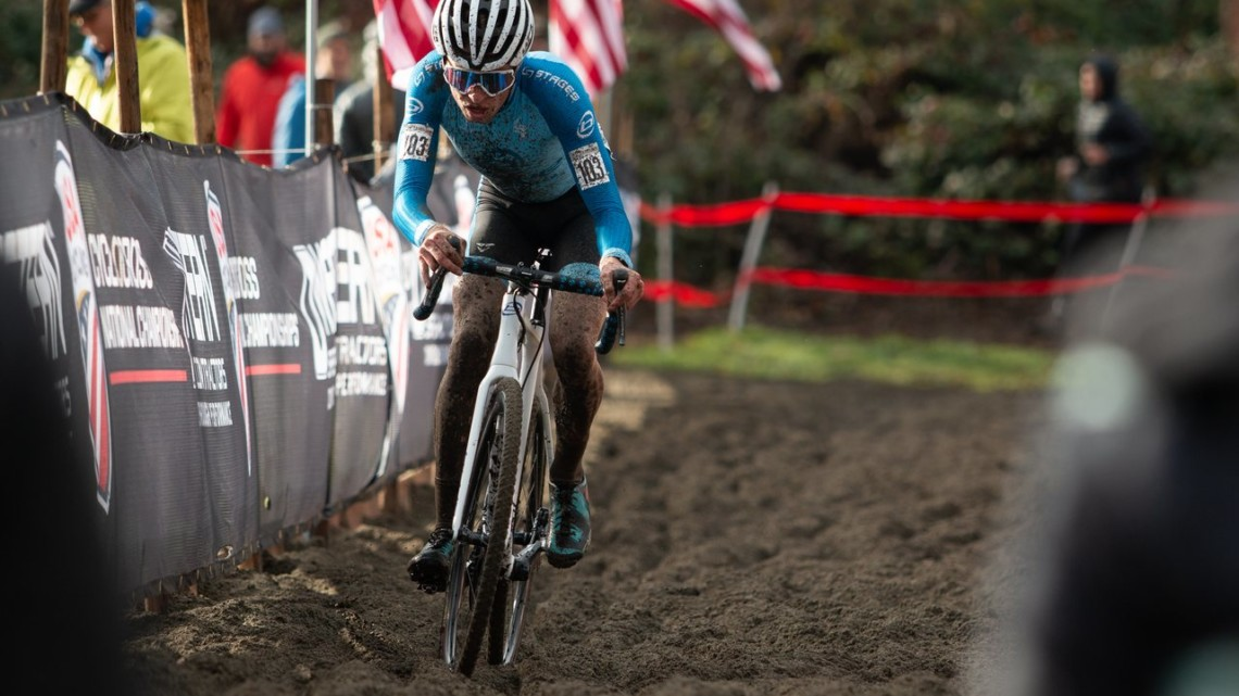 Eric Brunner took the U23 Men's title. 2019 Cyclocross National Championships, Lakewood, WA. © A. Yee / Cyclocross Magazine