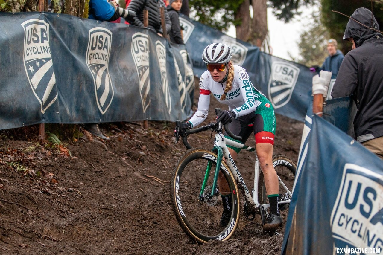 Katie Clouse entered Sunday as the U23 Women's favorite. U23 Women. 2019 Cyclocross National Championships, Lakewood, WA. © A. Yee / Cyclocross Magazine