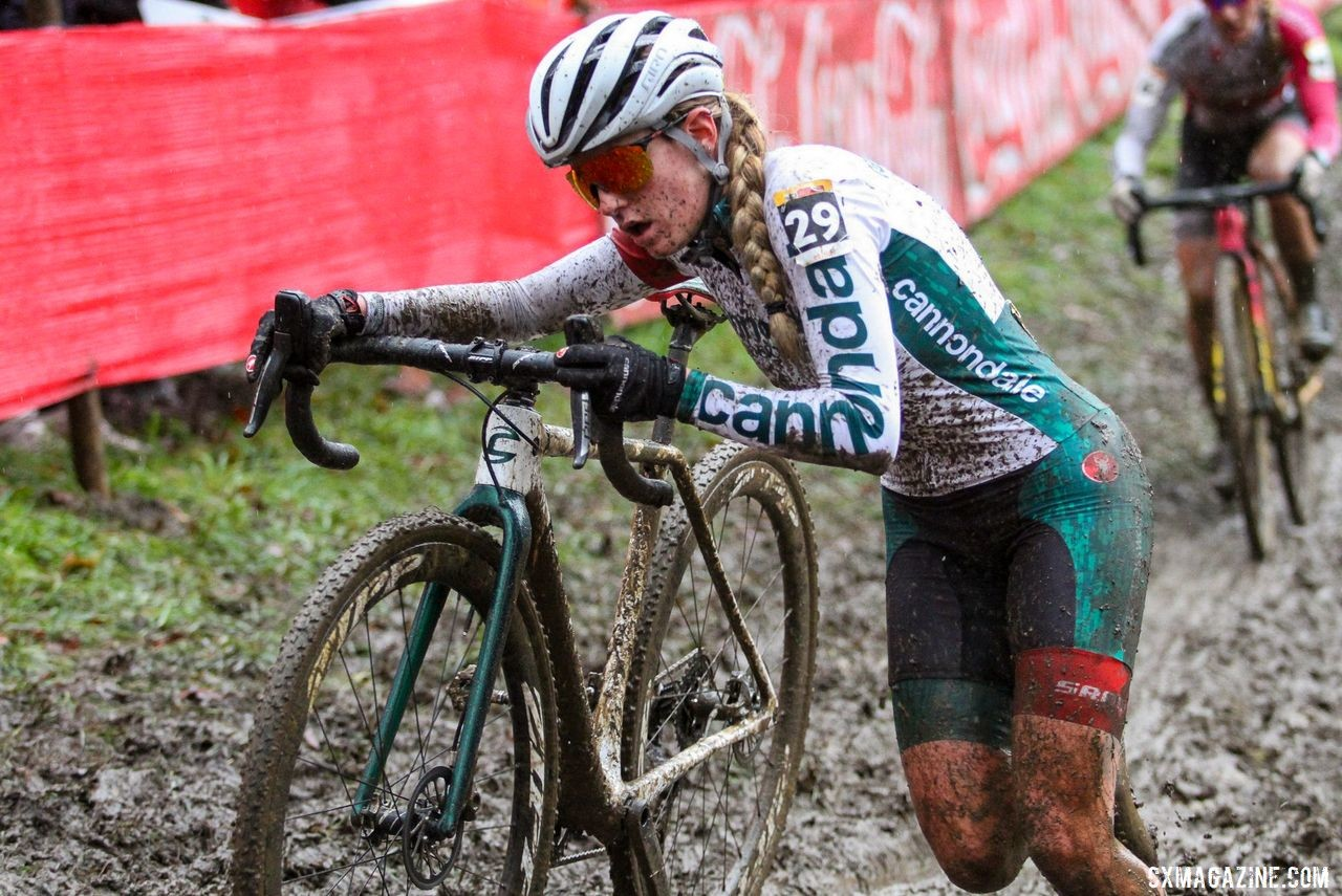 Clouse raced well at Namur before suffering an injury. 2019 World Cup Namur. © B. Hazen / Cyclocross Magazine