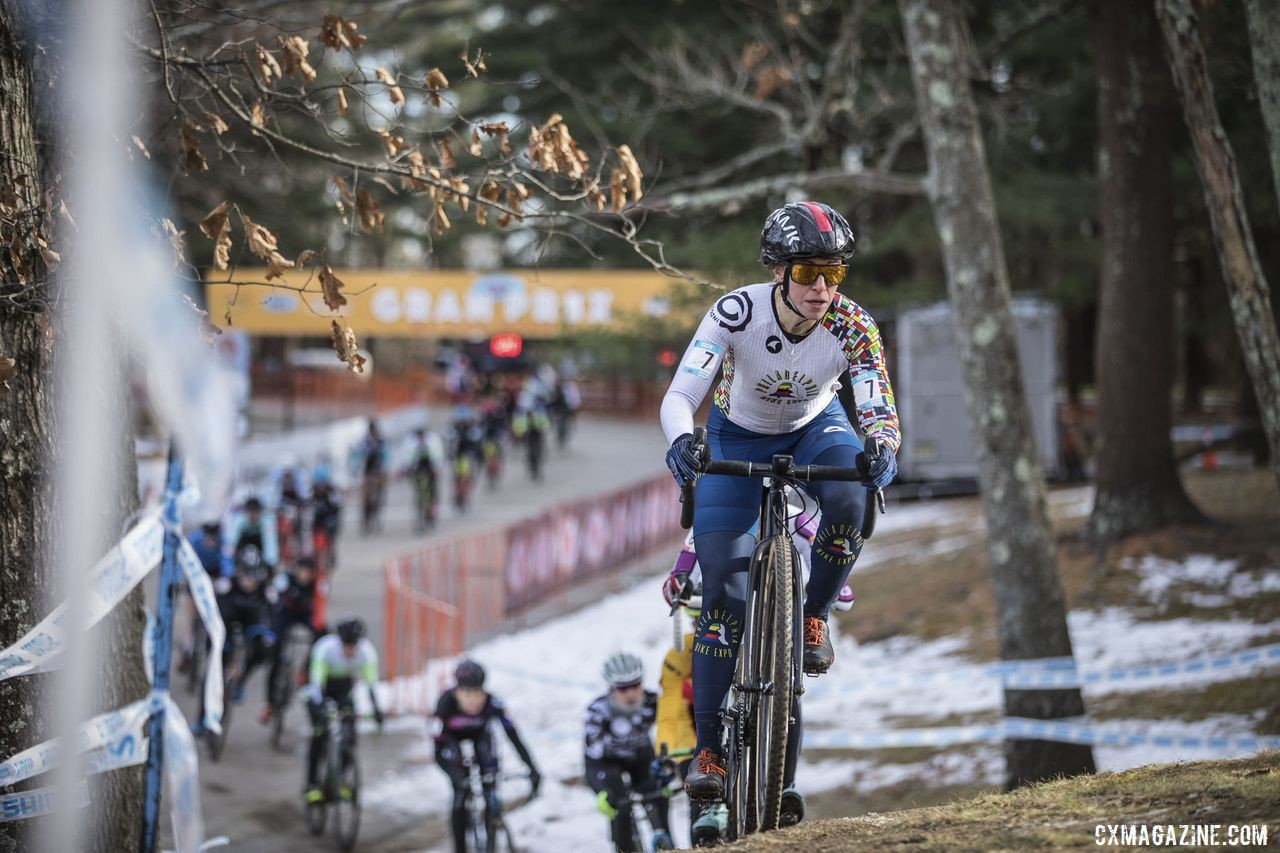The NBX course was frosty in spots. 2019 NBX Gran Prix of Cross Day 2. © Angelica Dixon