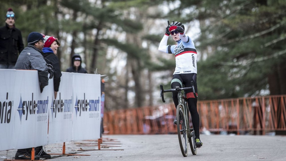 Lane Maher took aim at the Vittoria Series title and hit his target. 2019 NBX Gran Prix of Cross Day 2. © Angelica Dixon