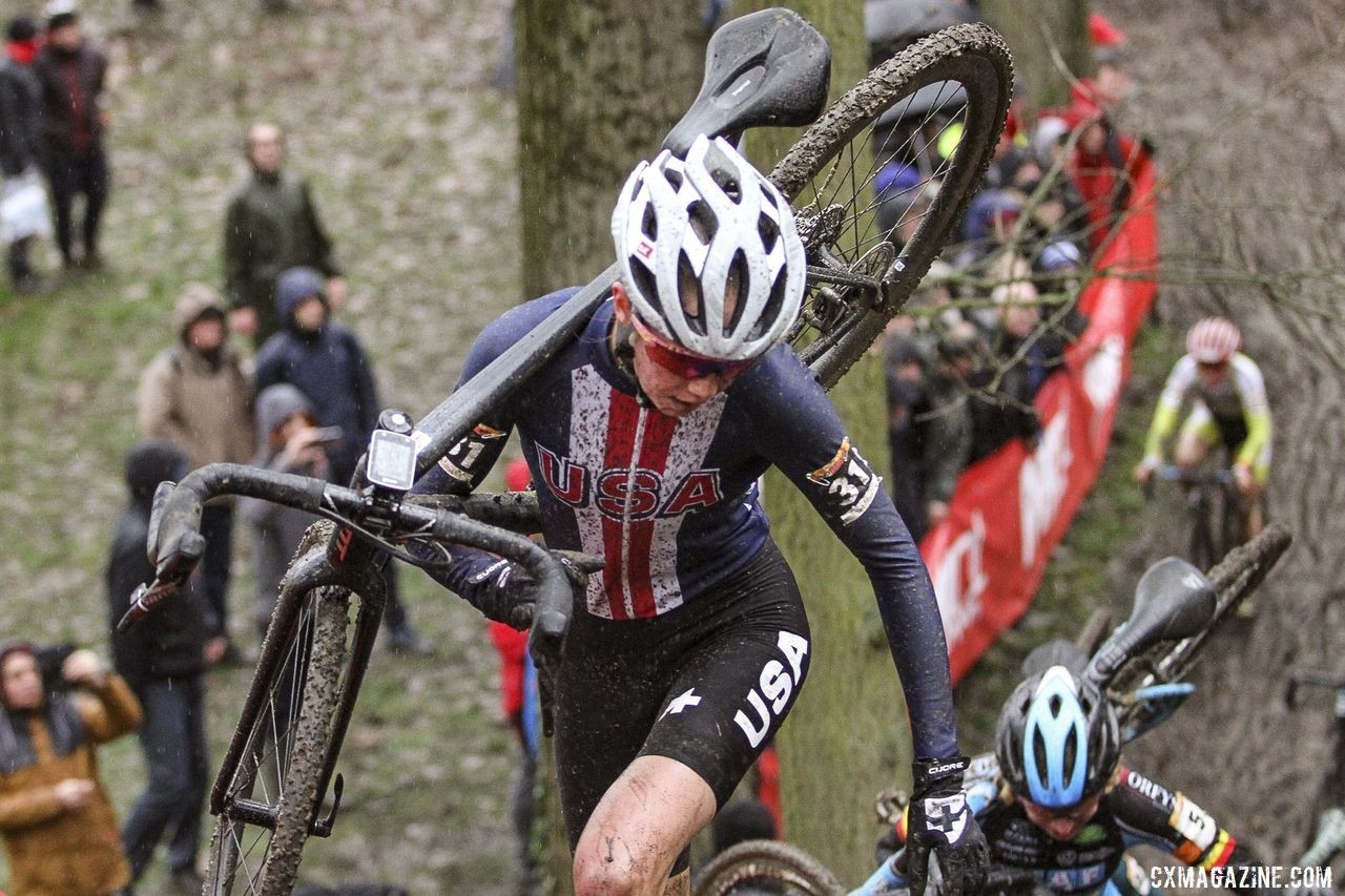 Munro and her Giant TCX raced at World Cup Namur last week. 2019 World Cup Namur. © B. Hazen / Cyclocross Magazine