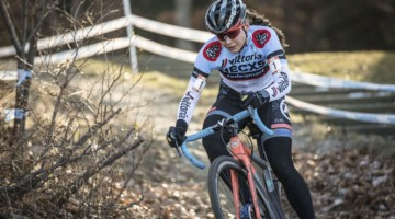 Rebecca Fahringer took the win on Day 1 of the 2019 NBX Gran Prix of Cyclocross weekend. © Angelica Dixon