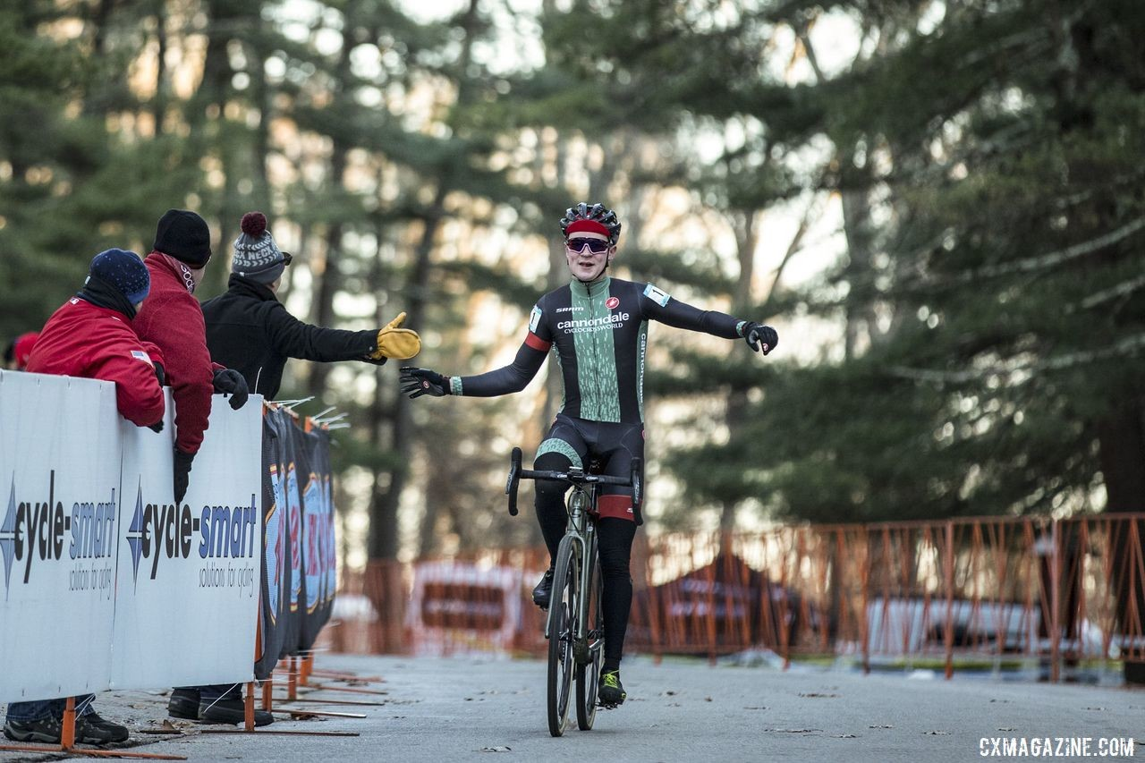 Lane Maher took the Elite Men's win on Day 1 of the 2019 NBX Gran Prix of Cyclocross weekend. © Angelica Dixon