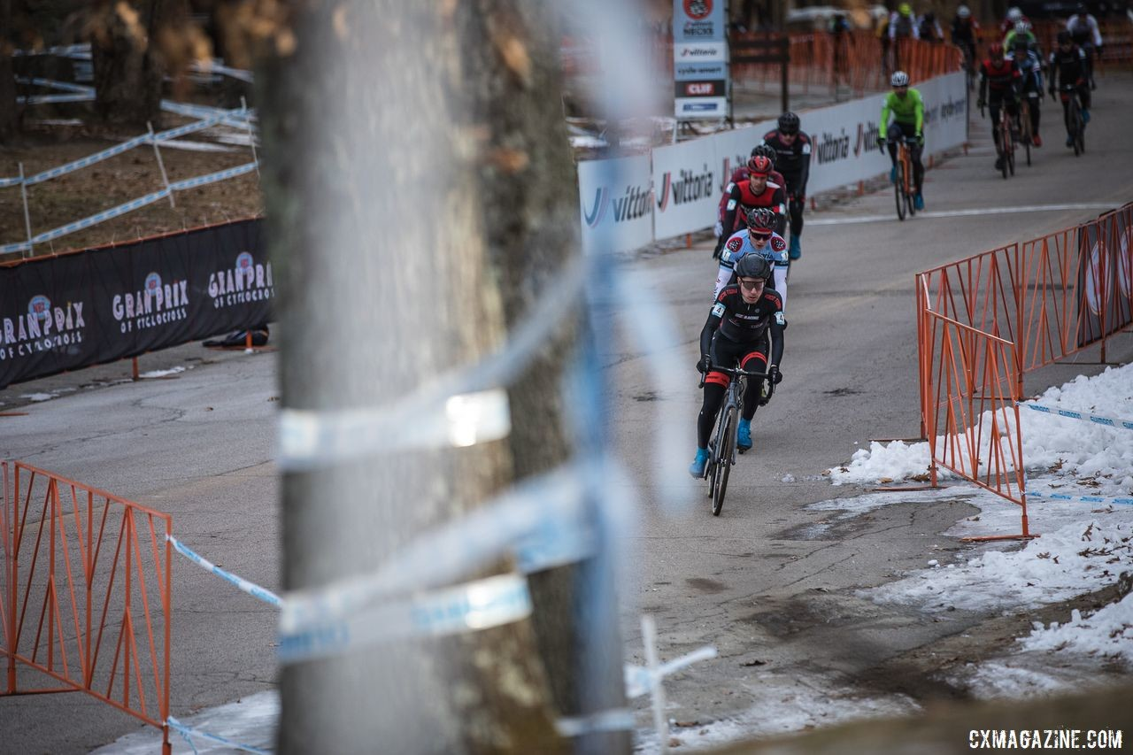 Sam Noel and Nick Lando got off to a fast start on Sunday. 2019 NBX Gran Prix of Cross Day 2. © Angelica Dixon