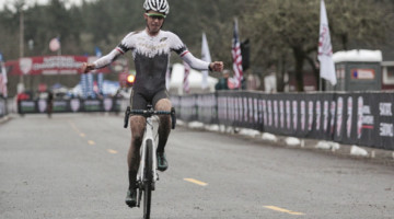 Eric Brunner won the 2019 Collegiate Club National Championship. © A. Yee / Cyclocross Magazine