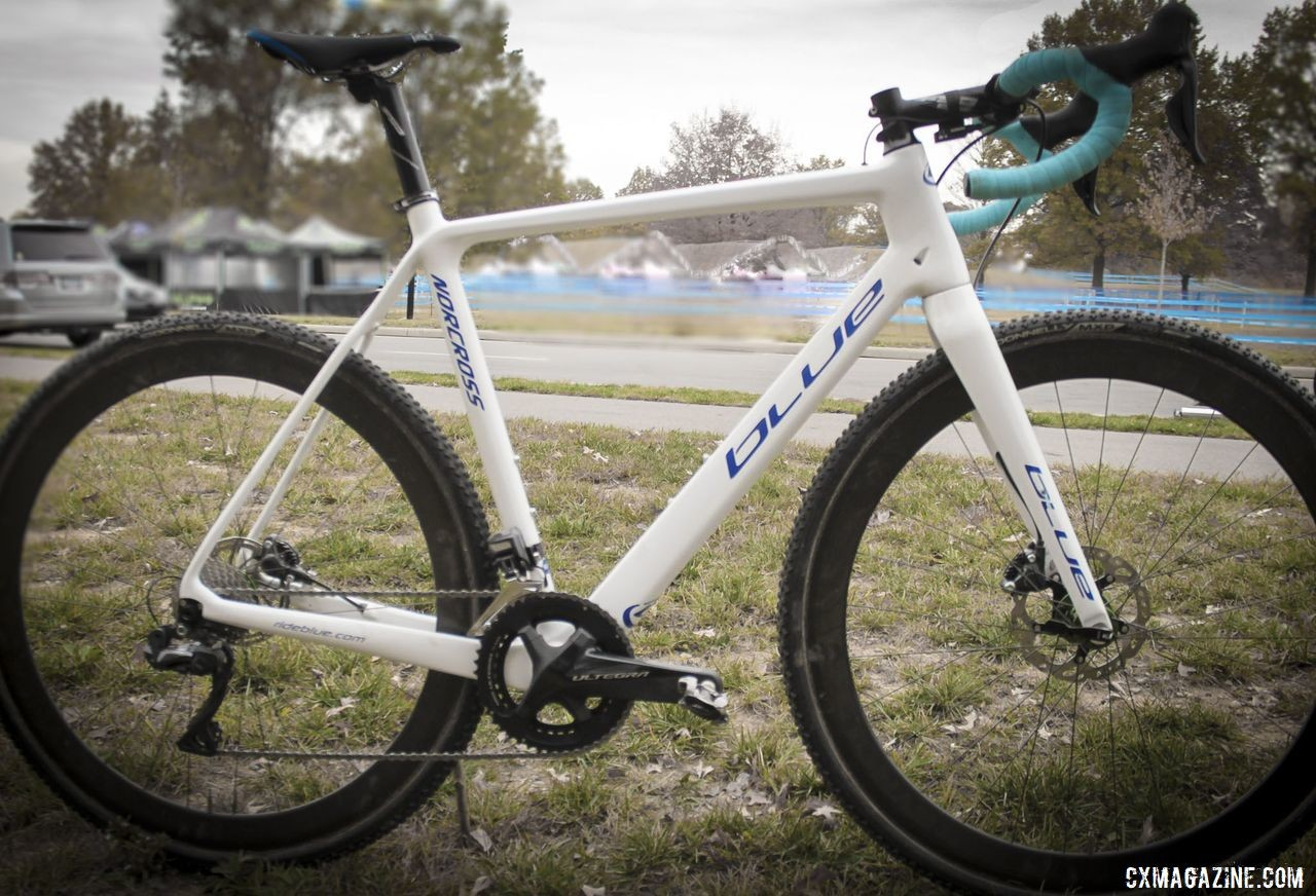 Eric Brunner's Blue Norcross SL Cyclocross Bike. © B. Grant / Cyclocross Magazine