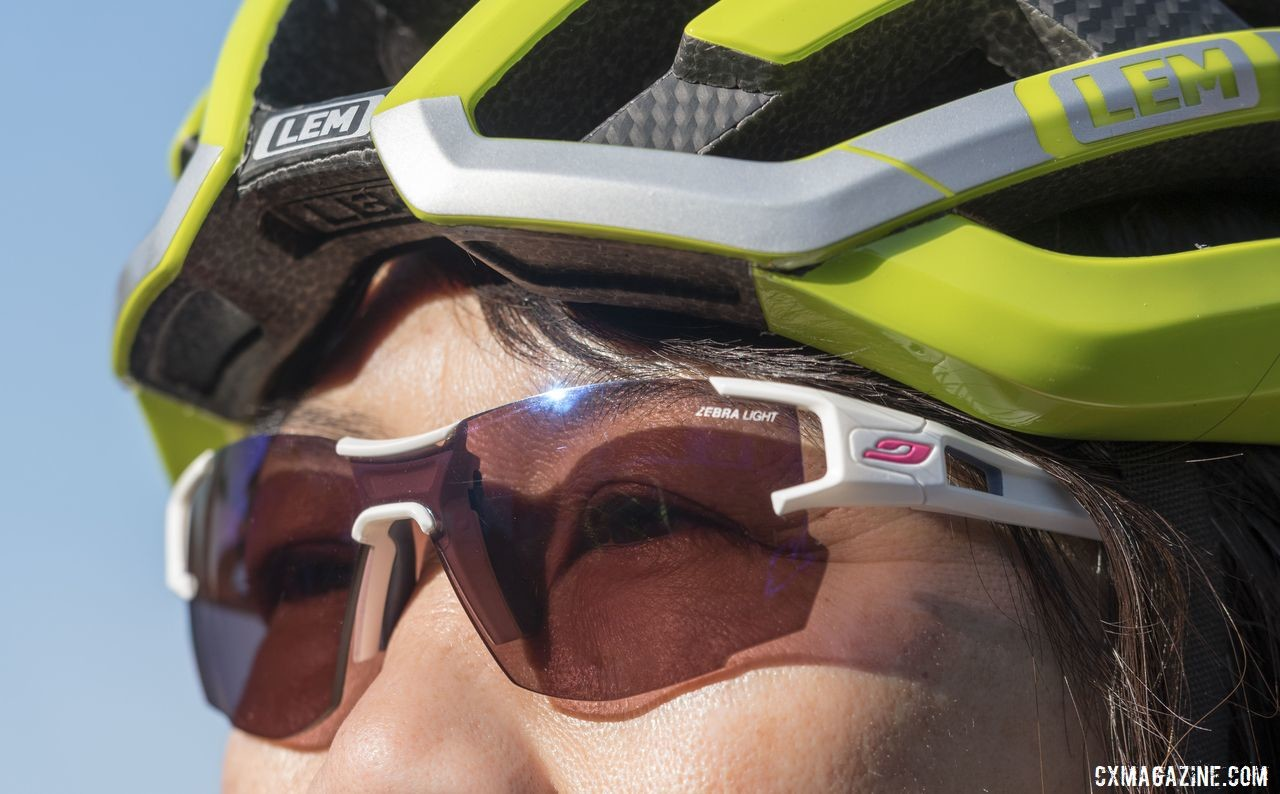 The Julbo Aerolite glasses come with adjustable nosepieces.. © Cyclocross Magazine