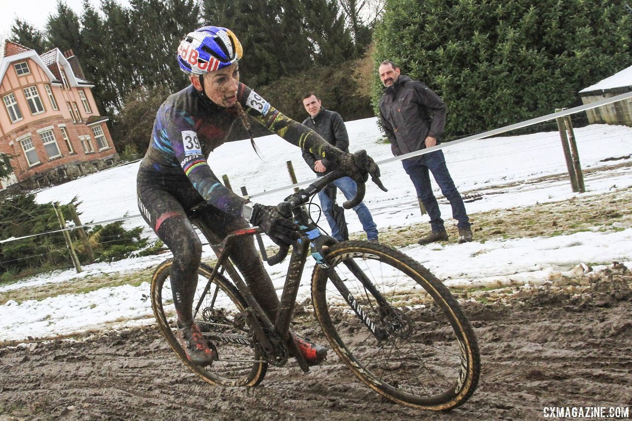 Pauline Ferrand-Prevot is returning to race cyclocross this January and February. 2017 Vlaamse Druivencross. © B. Hazen / Cyclocross Magazine