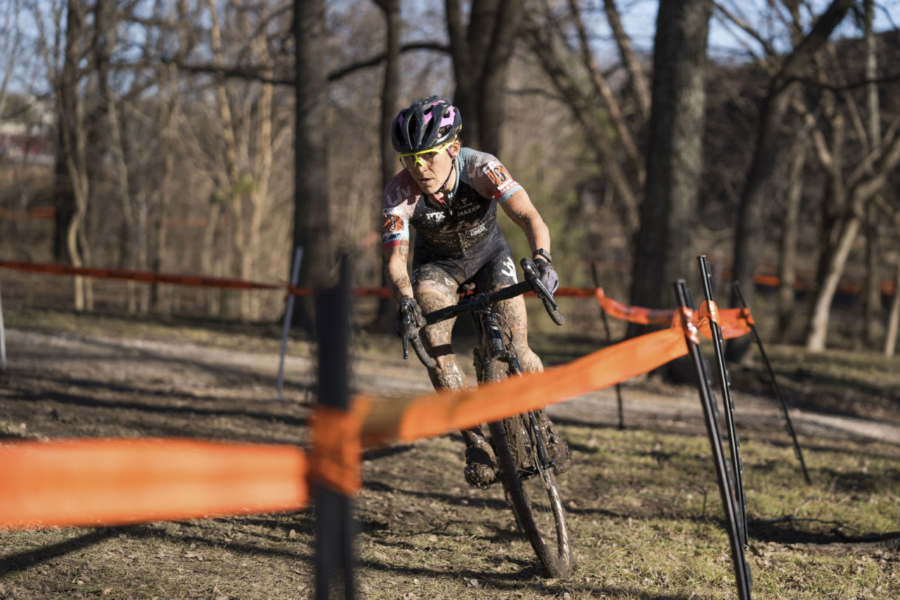 Crystal Anthony rode to a third-place finish on Saturday. 2019 Ruts n' Guts Day 1. © P. Means / Cyclocross Magazine