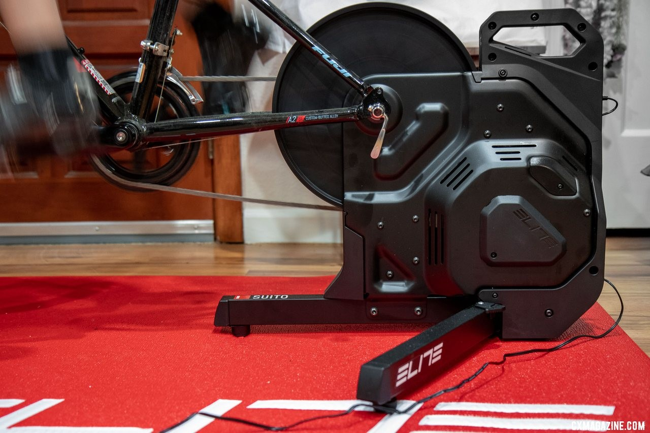 The Elite Suito Trainer at $799 is an affordable, relatively portable smart trainer. © Cyclocross Magazine