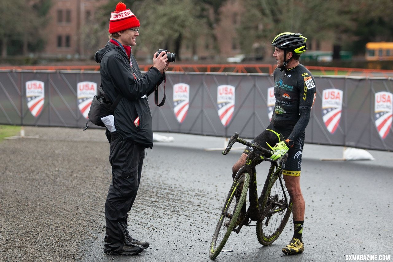 The biggest honor of winning? Masters Men 35-39. 2019 Cyclocross National Championships, Lakewood, WA. © A. Yee / Cyclocross Magazine