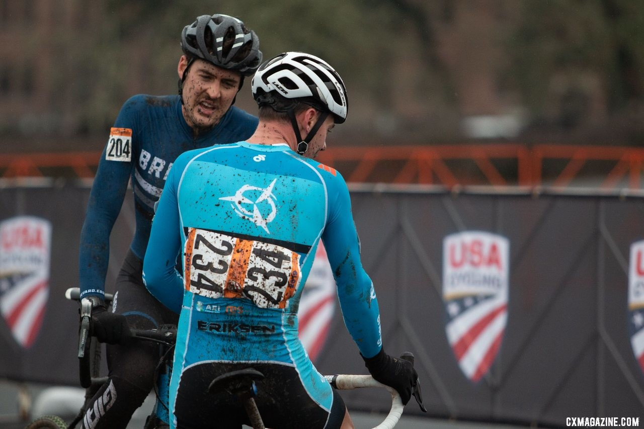 The thrill of victory and agony of defeat. Masters 30-34 Men. 2019 Cyclocross National Championships, Lakewood, WA. © A. Yee / Cyclocross Magazine
