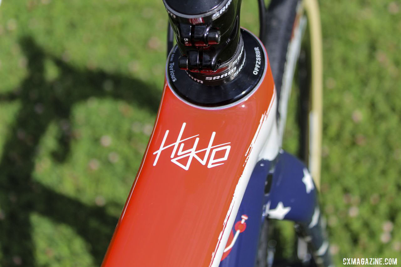 Hyde's personal logo returned to the top of his top tube this year. Stephen Hyde's 2019 Cannondale SuperX. © Z. Schuster / Cyclocross Magazine