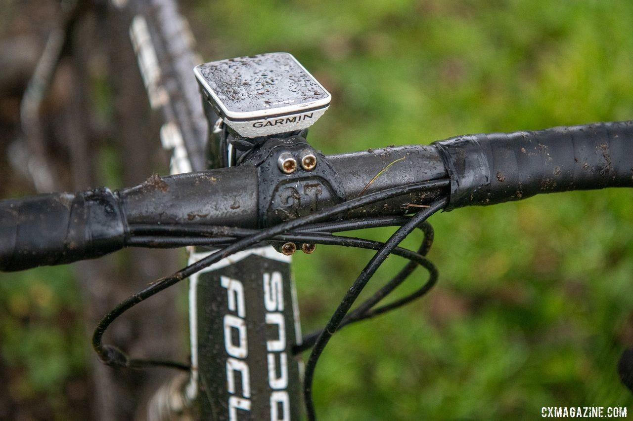 Smith's S-Works handlebar has 75mm of reach for a better fit with modern integrated shifters. George Smith's National Championship Focus Mares, 2019 Cyclocross National Championships, Lakewood, WA.