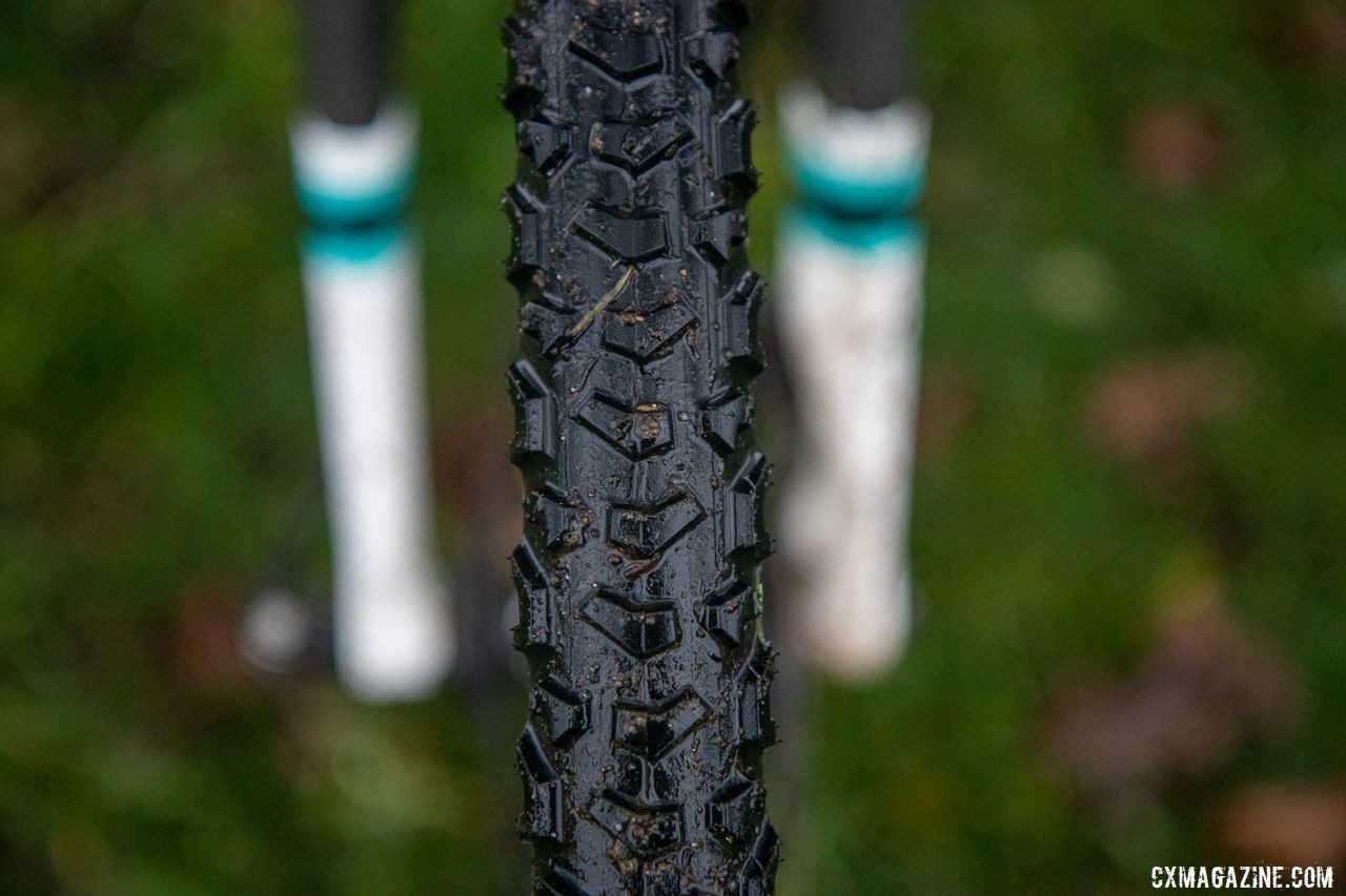 Donnelly's BOS tire is the company's most aggressive mud tread. George Smith's National Championship Focus Mares, 2019 Cyclocross National Championships, Lakewood, WA.