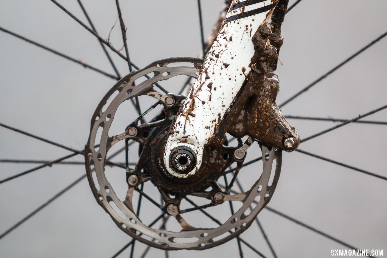 Strohmeyer used 140mm SRAM Centerline rotors. Andrew Strohmeyer's Trek Boone. 2019 USA Cycling Cyclocross National Championships bike profiles, Lakewood, WA. © A. Yee / Cyclocross Magazine