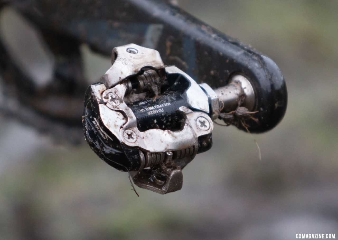 Shimano SPD pedals are popular amongst crossers, no matter what gruppo they ride. Emily Cameron's Collegiate Club Women-winning Giant TCX cyclocross bike. 2019 USA Cycling Cyclocross National Championships bike profiles, Lakewood, WA. Photo: © A. Yee / Cyclocross Magazine