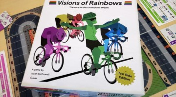 Visions of Rainbows is a new cycling board game by Jason McDowell