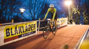 Max Palmer got to experience the famed Diegem night race. © Balint Hamvas