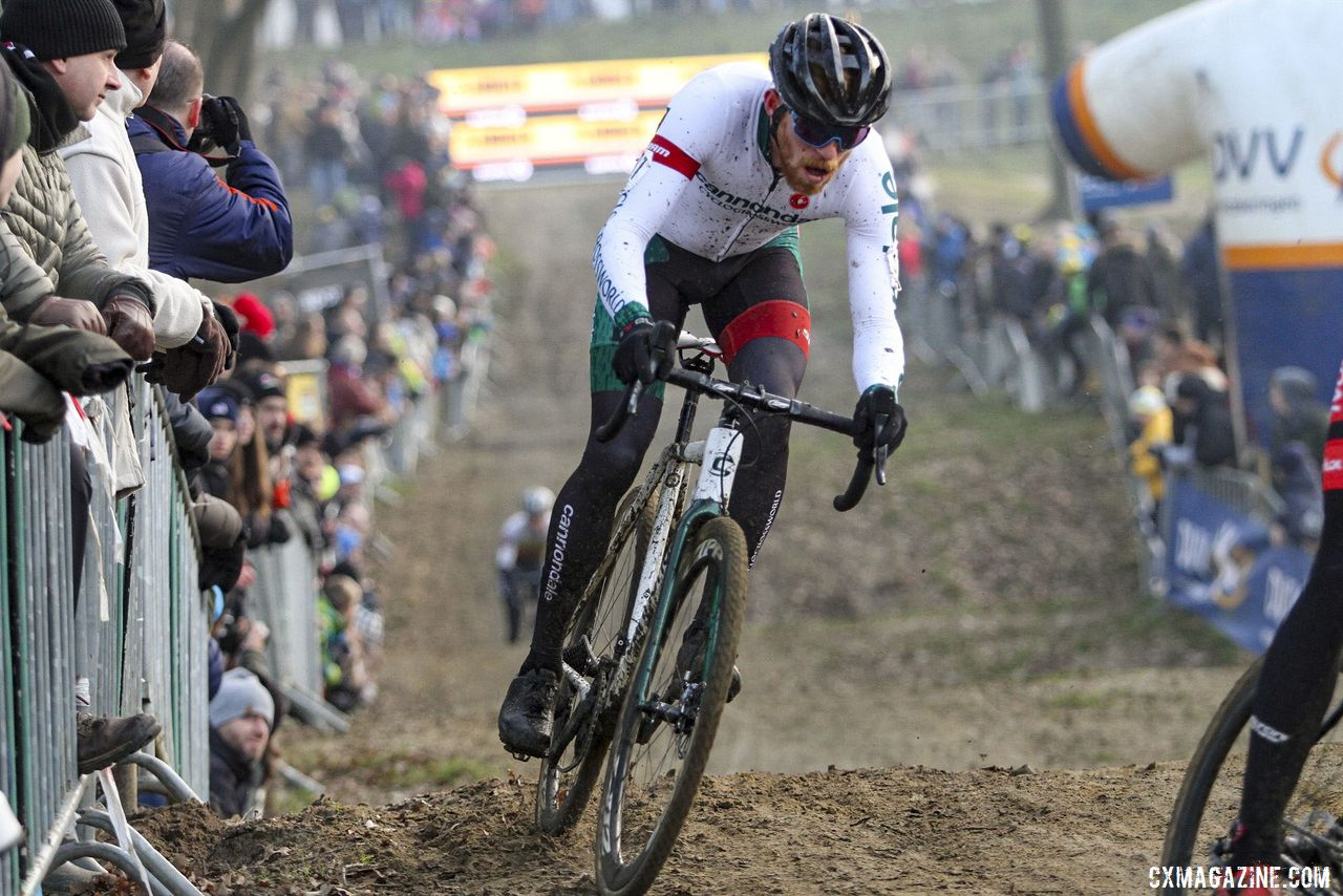 Stephen Hyde finished 14th at GP Sven Nys. 2020 GP Sven Nys, Baal. © B. Hazen / Cyclocross Magazine