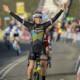 Lucinda Brand celebrates her win. 2020 World Cup Hoogerheide, Netherlands. © B. Hazen / Cyclocross Magazine