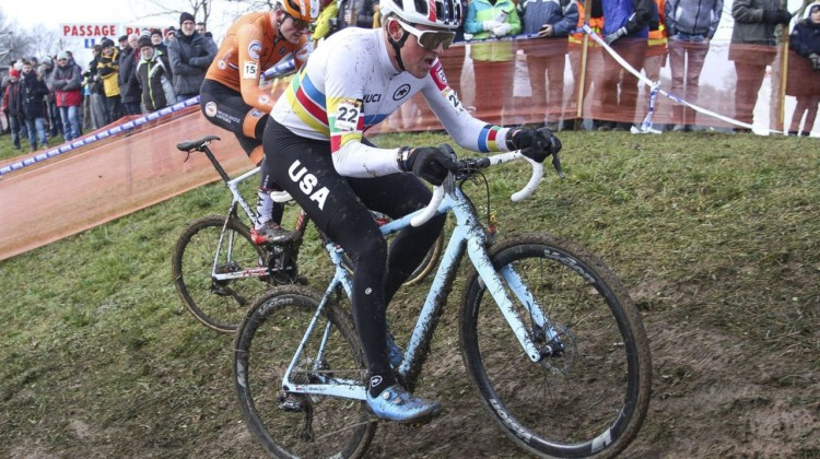 Gage Hecht at Nommay. © B. Hazen / Cyclocross Magazine