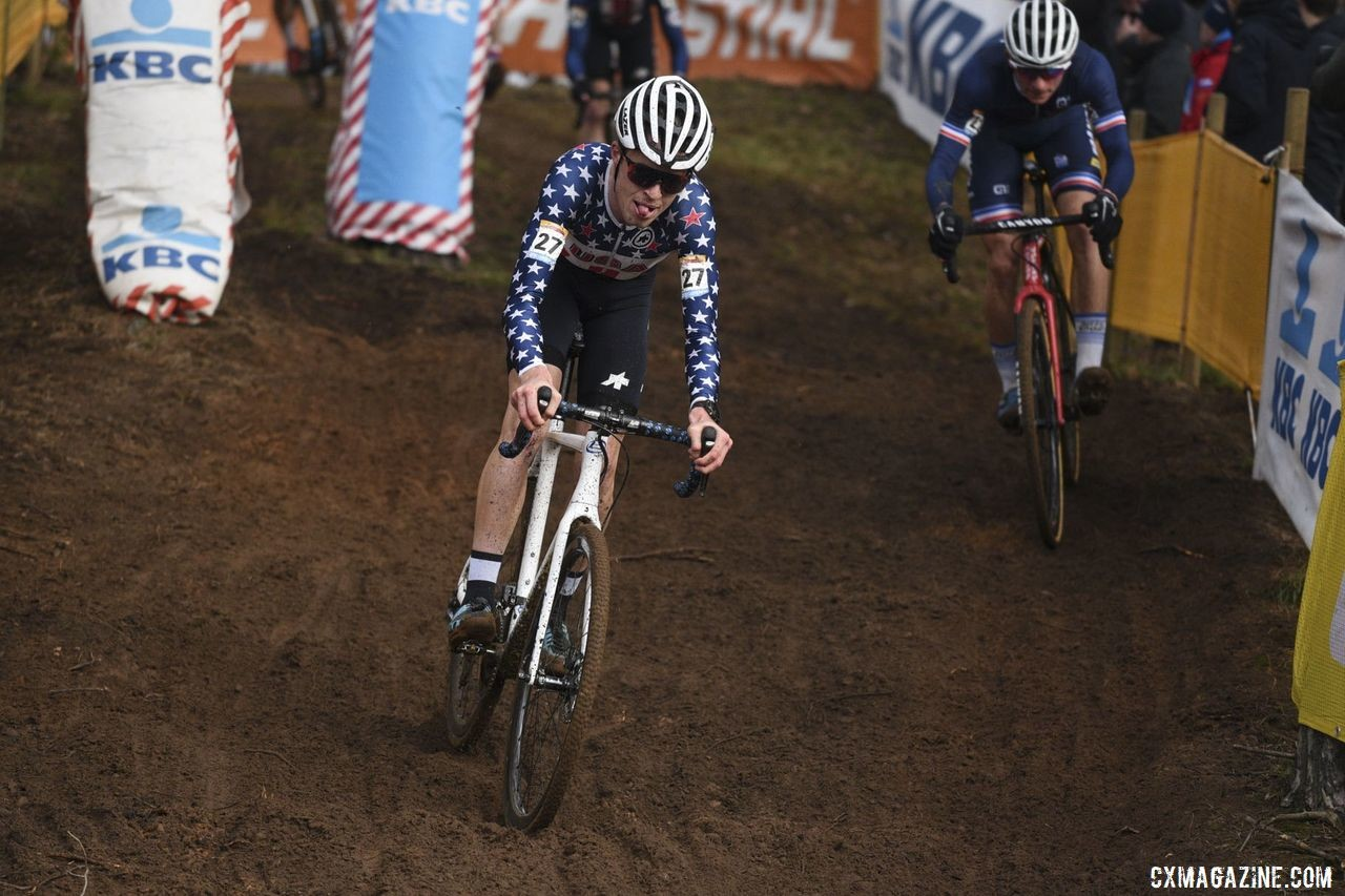 Brunner raced in Europe over Kerstperiode, and he will represent the U.S. at U23 Worlds. © B. Hazen / Cyclocross Magazine