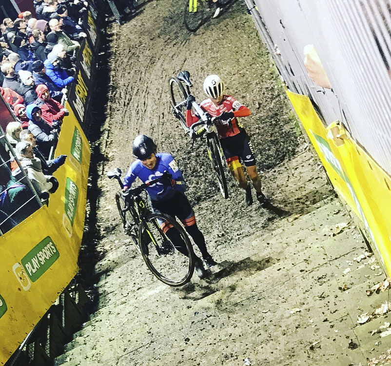 Coogan Cisek did the famed night race at Diegem.