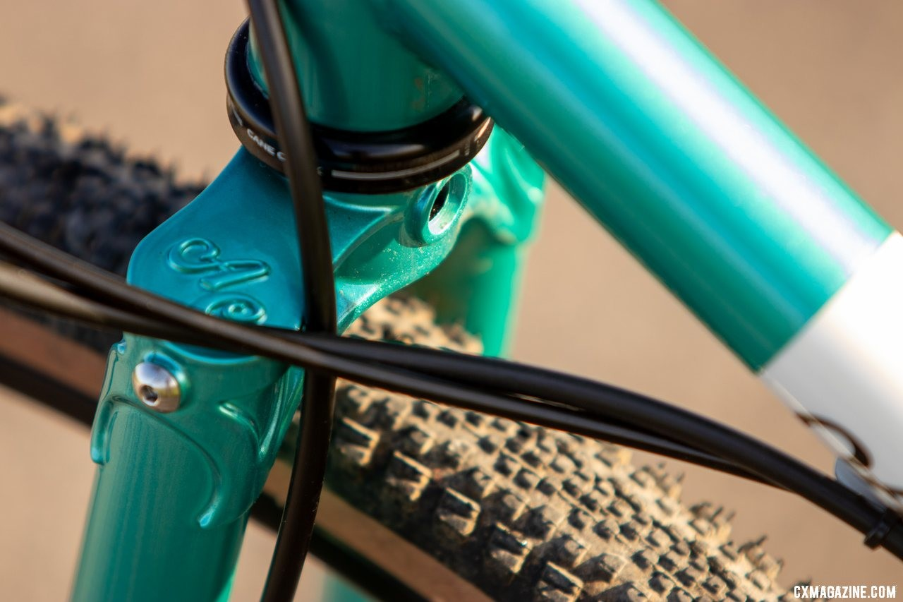 The fork crown is a stunner. The new All-City Super Professional cyclocross bike. © Cyclocross Magazine