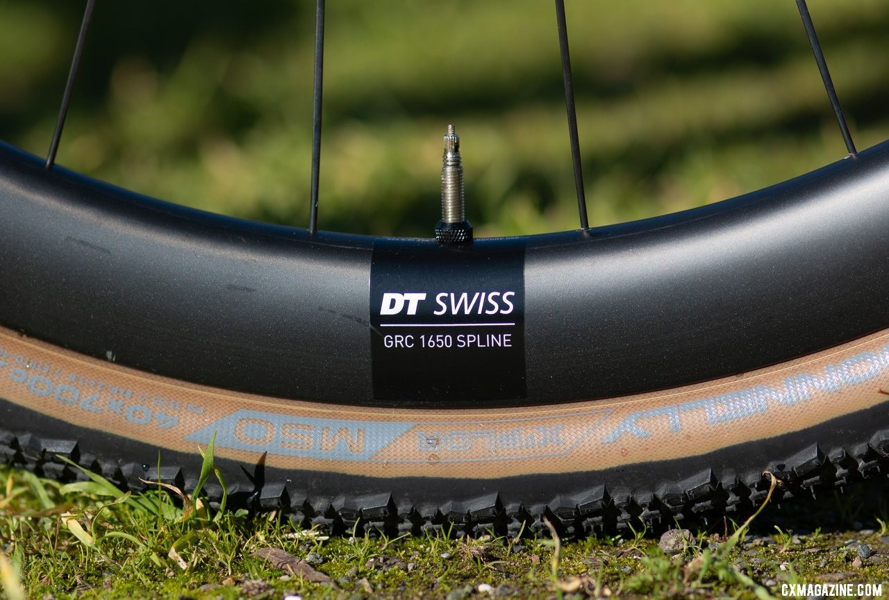 Cervelo teamed with DT Swiss for its own version of the GRC 1400 carbon gravel wheel. The Cervelo Aspero carbon gravel bike. © Cyclocross Magazine