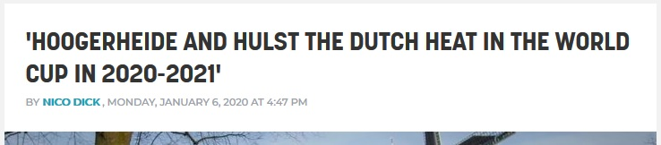 Translated headline from Wielerflits article. Not really the lede.
