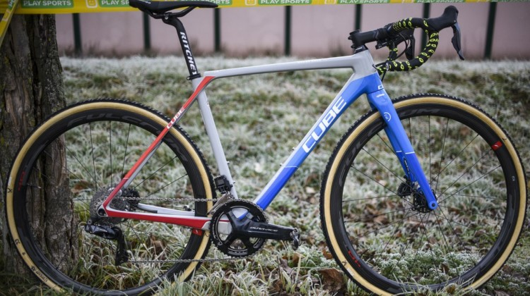 Quinten Hermans' Cube Cross Race C:62 Cyclocross Bike. © B. Hazen / Cyclocross Magazine