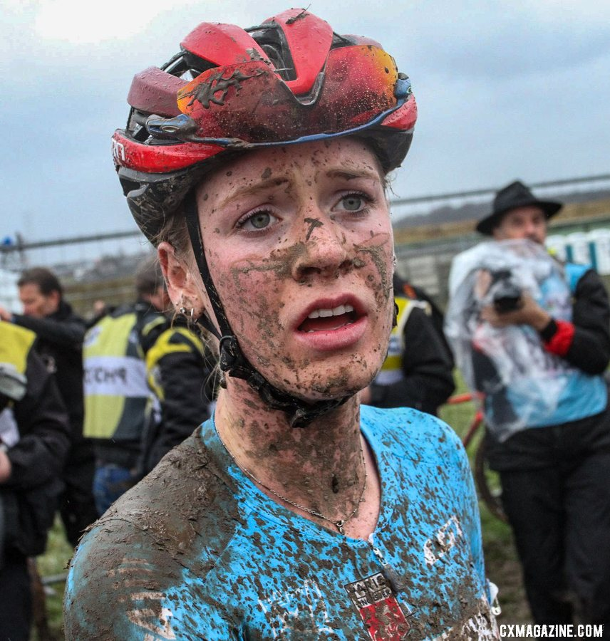 Ruby West had an impressive ride to finish 9th. U23 Women, 2020 UCI Cyclocross World Championships, Dübendorf, Switzerland. © B. Hazen / Cyclocross Magazine