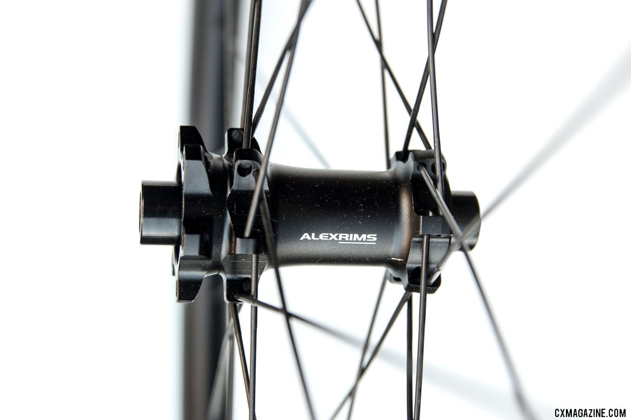 Alex offers IS or Centerlock hub options. The $1100 Alex Rims Baxter 3.0 25mm-wide carbon gravel wheels. © Cyclocross Magazine