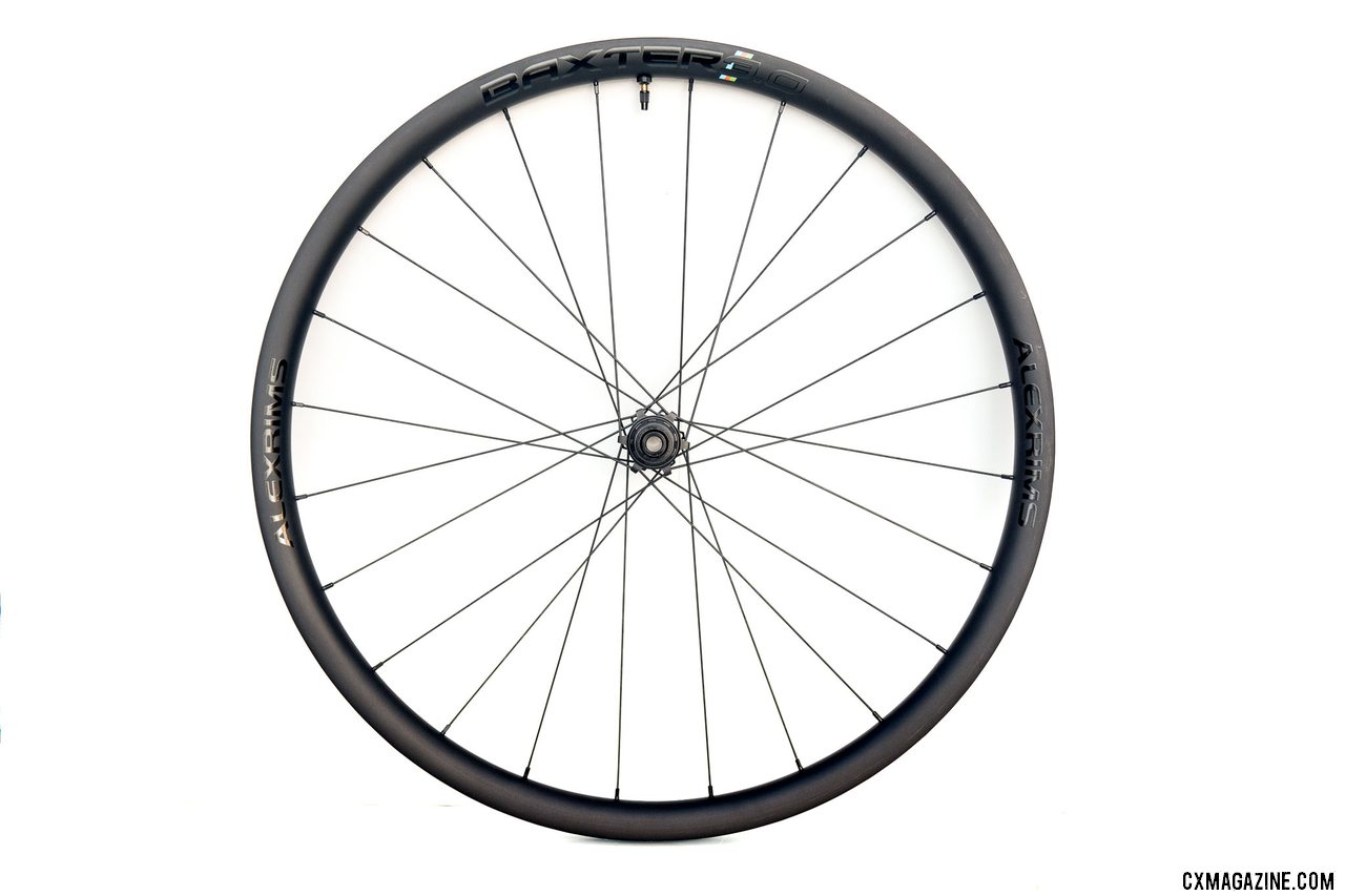 The $1100 Alex Rims Baxter 3.0 25mm-wide carbon gravel wheels come in either IS or Centerlock rotor mounts, and three freehub options. © Cyclocross Magazine