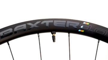A 35mm-deep carbon rim adds a bit of wind-cheating for your gravel race. The $1100 Alex Rims Baxter 3.0 25mm-wide carbon gravel wheels. © Cyclocross Magazine