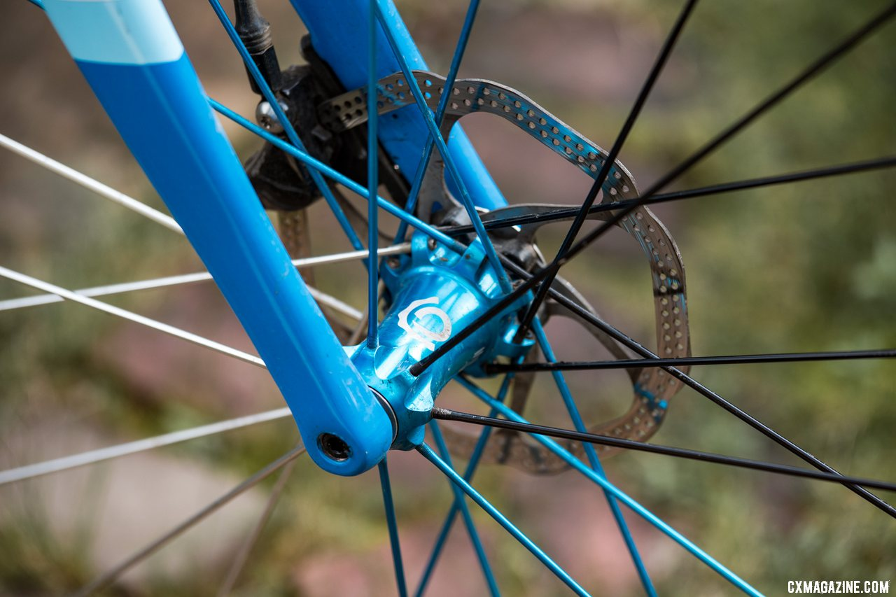 The Industry Nine UL 240c TRA Carbon Tubeless Clincher Wheelset with its alloy spokes have remained true and round over our long-term test. © C. Lee / Cyclocross Magazine